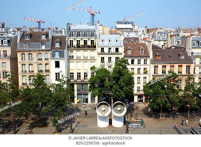 Place George Pompidou Square Paris. France