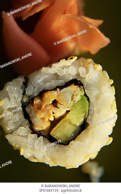California Roll with Pickled Ginger