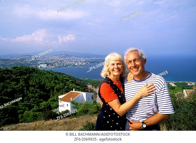 Olympics 2004 Athens Greece Tourists Aged 50s in Vravrona