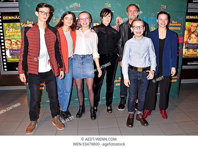 Eloi Christ, Nina Goceva, Paula Donath, Sophie Rois, Uwe Ochsenknecht, Caspar Krzysch, Mina Rueffer at special screening Burg Schreckenstein 2 at Kino...