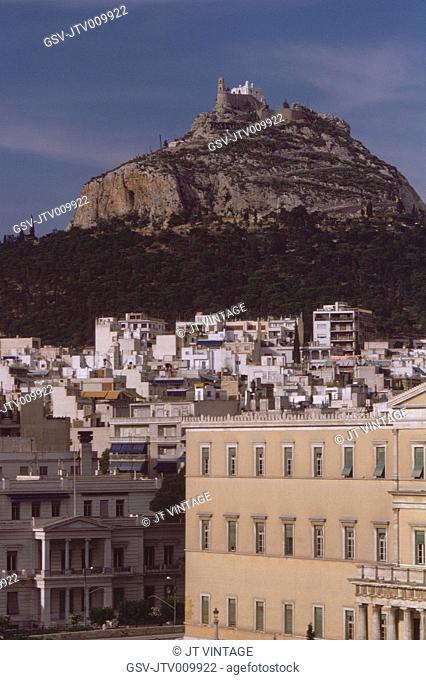 Cityscape with Mount Lycabettus in Background, Athens, Greece, 1962