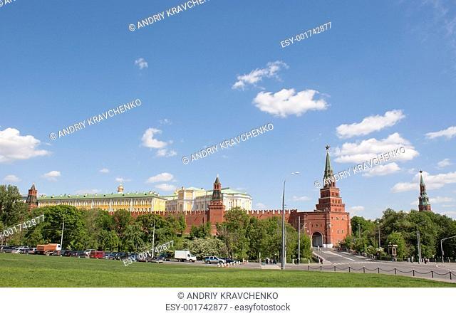 View to the Kremlin from Borovitskaya tower, Moscow