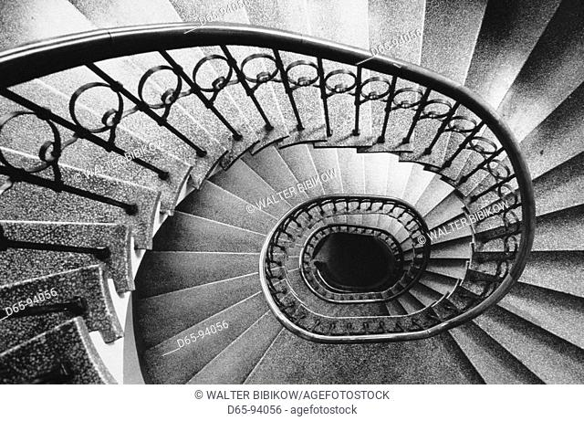 Spiral staircase, Helsinki. Finland
