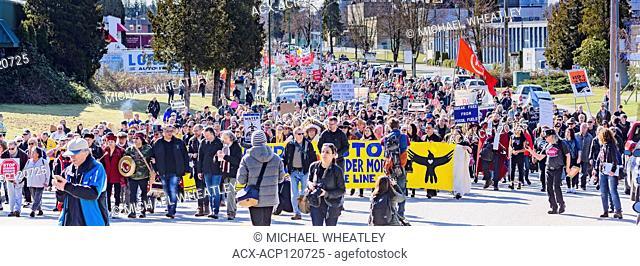 Anti Kinder Morgan Pipeline March, Kwekwecnewtxw, Burnaby BC, Canada Coast Salish Territories