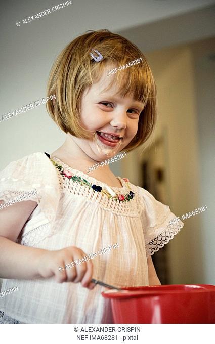 A girl whipping cream Sweden