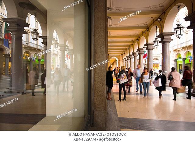 Via Roma, Turin, Piedmont, Italy