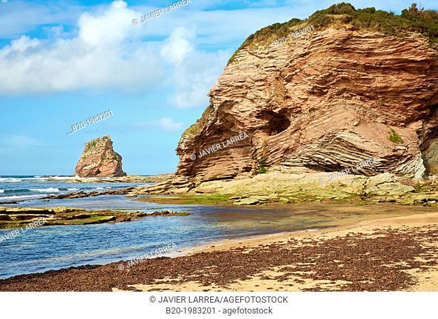 Beach of Hendaye, Pyrenees Atlantiques, Aquitaine, France