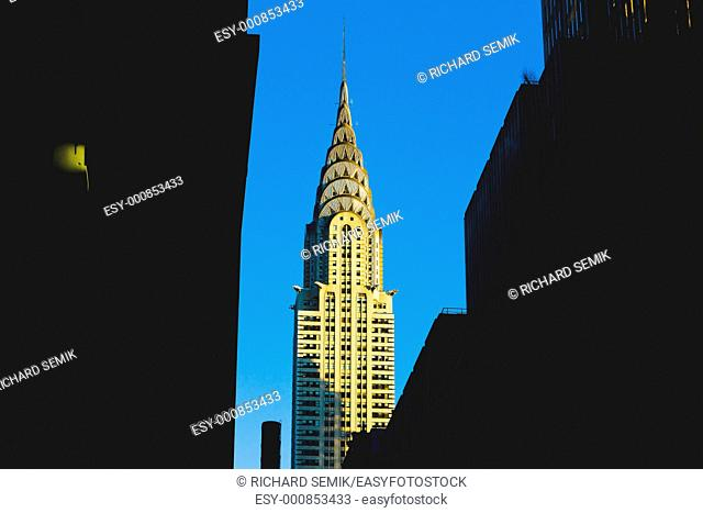 detail of Chrysler building, Manhattan, New York City, USA