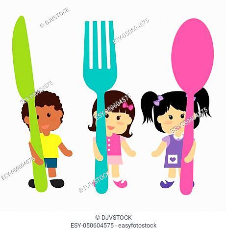 Kids menu design over white background, vector illustration