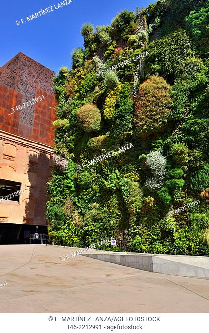The CaixaForum Madrid is a cultural center, mainly dedicated to temporary exhibitions, . Opened in 2008 is integrated within the Art Triangle