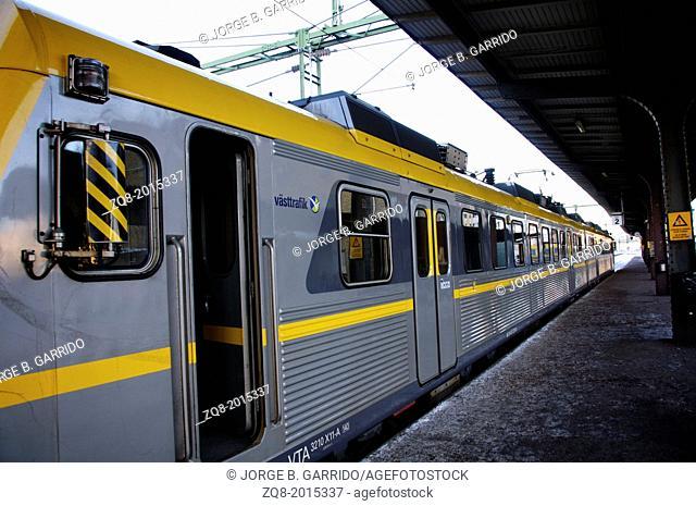 Train at the station. Gothenburg-Sweeden