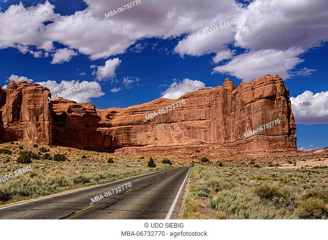 The USA, Utah, Grand county, Moab, Arches National Park, The Great embankment