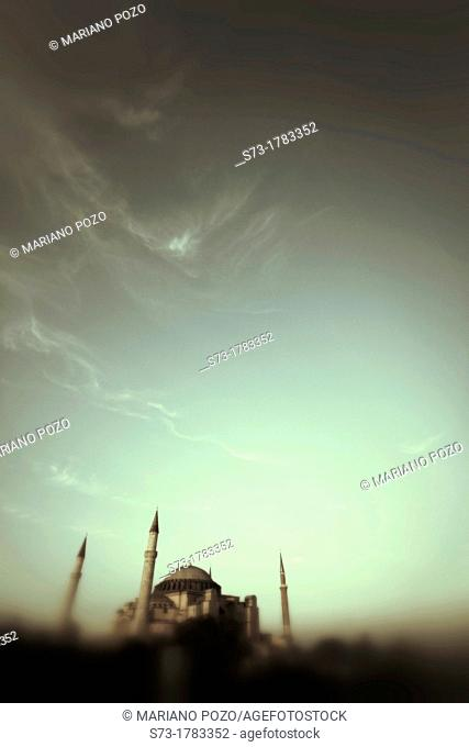 Exterior of Saint Sophia Church, Istanbul, Turkey