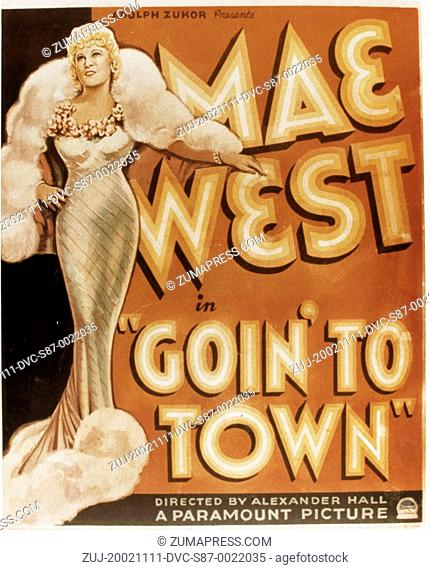 1935, Film Title: GOIN' TO TOWN, Director: ALEXANDER HALL, Studio: PARAMOUNT, Pictured: ALEXANDER HALL. (Credit Image: SNAP/ZUMAPRESS.com)