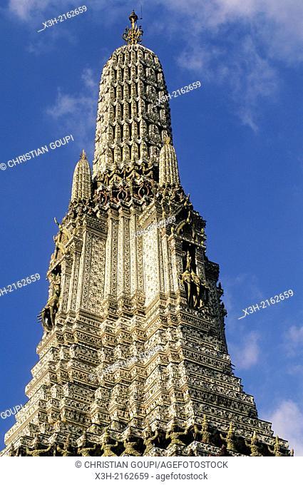 Wat Arun or Temple of Dawn, Bangkok, Thailand, Southeast Asia