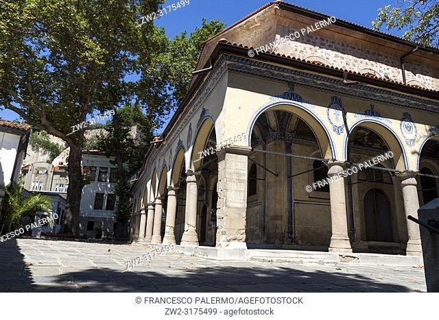 Cloister of an Orthodox church. Plovdiv, Bulgaria