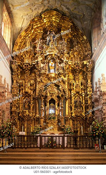 Altarpiece of the church of San Cayetano (built 1775-1788) by La Valenciana silver mine, Guanajuato. Mexico