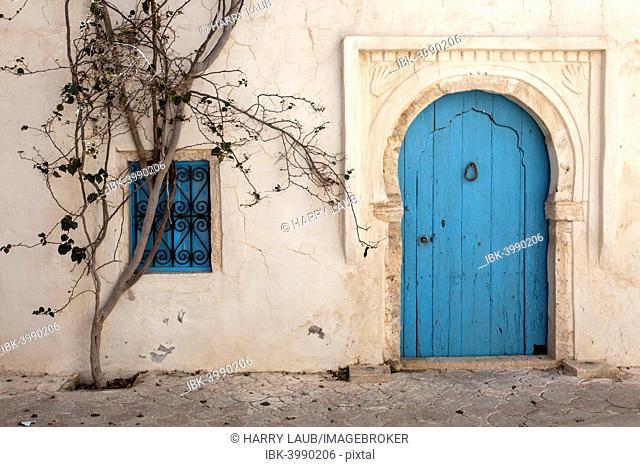 Entrance door, building, Djerba, Tunisia