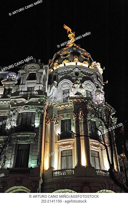 Building Metropolis, XXth century, Madrid, Spain