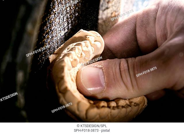 Dental mold, close up