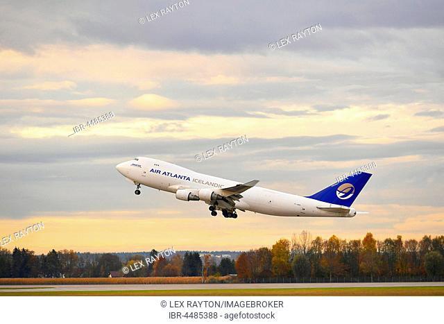 Take Off, Senator Atlantic Bridge, Air Atlanta Icelandic, Boeing, Boeing 747 Cargo, Munich Airport, Upper Bavaria, Germany