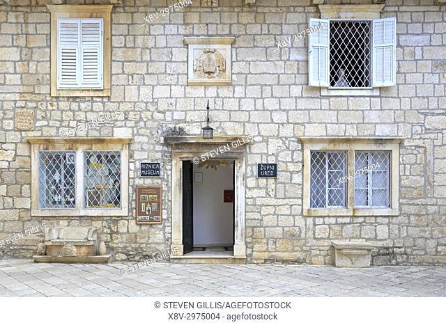 Bishop's Treasury Museum or Riznica Museum, Korcula Town, Korcula Island, Croatia, Dalmatia, Dalmatian Coast, Europe
