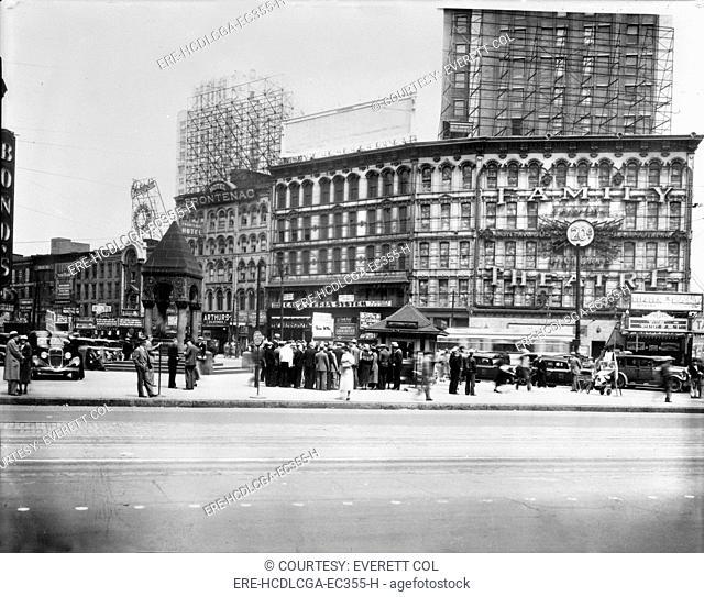 Movie Theaters, The Family Theater, 16-30 Monroe Avenue, Detroit, Michigan, circa 1933