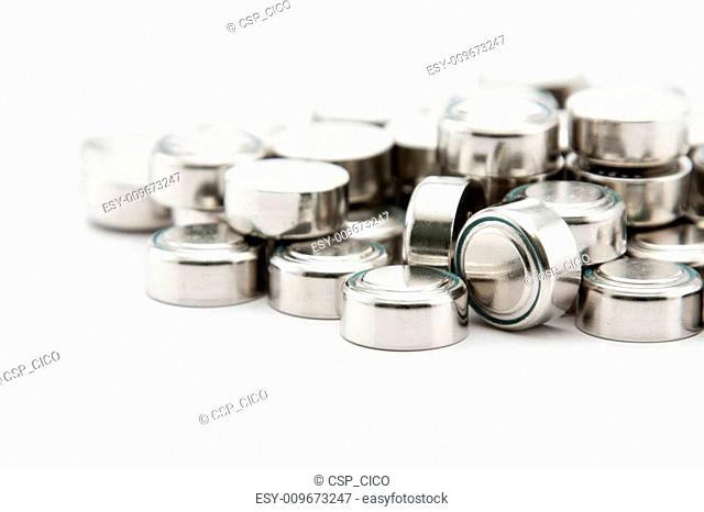 Pile of button cell batteries