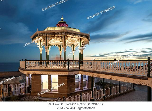 Late summer evening at Brighton Bandstand, East Sussex, England