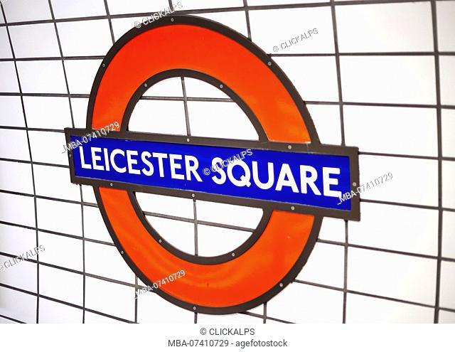 Leicester square tube station, London, United Kingdom