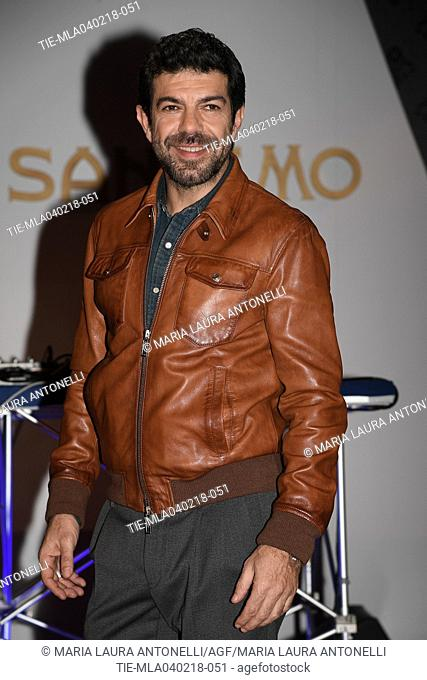Italian actor Pierfrancesco Favino during the photocall of Press party at 68th Sanremo Music Festival 2018, Sanremo, ITALY-04-02-2018