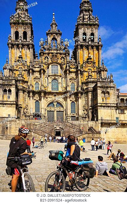 Cathedral of Santiago de Compostela, Way of St James, La Coruña province, Galicia, Spain