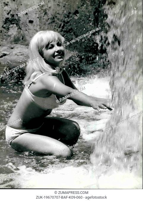 Jul. 07, 1967 - The golden star of the Italian screen is a Brunette Islander..Monica Pardo, born in Sassari, Sardinia, 20