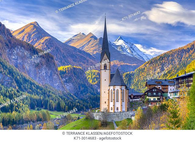 The Church of St Vincent, in Heiligenblut, Tyrol, Carinthia, Austria, Europe