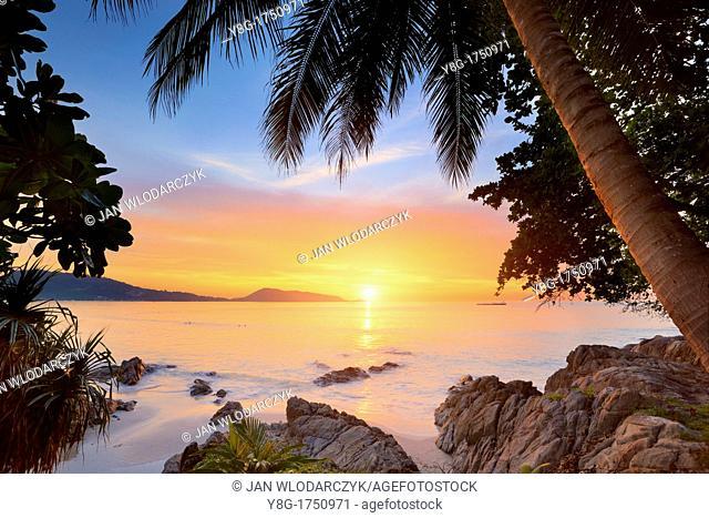 Thailand - Phuket Island, Patong Beach, sunset time scenery