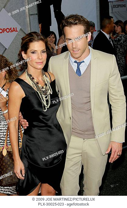 Sandra Bullock and Ryan Reynolds at the World Premiere of Touchstone Pictures' The Proposal held at the El Capitan Theatre in Hollywood, CA, June 1, 2009