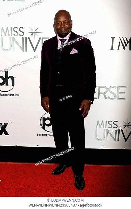 The 64th Miss Universe Pageant held at Planet Hollywood Resort & Casino - Arrivals Featuring: Emmitt Smith Where: Las Vegas, Nevada