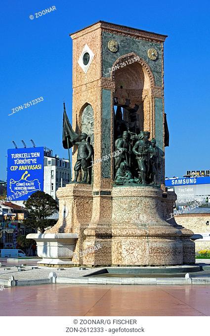 Denkmal der Republik auf dem Taksim-Platz, Istanbul, Türkei / Monument of the Republic on Taksim Square, Istanbul,Turkey