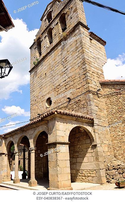 church of San Martin del Castanar; Sierra de Francia Nature Reserve; Salamanca province; Castilla Leon; Spain