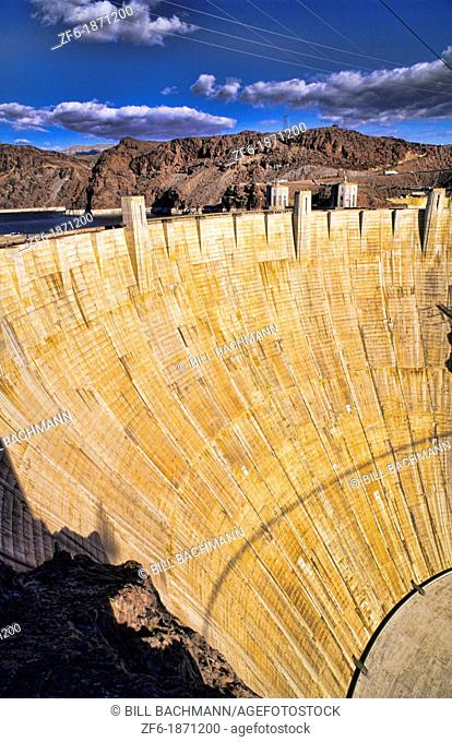 World Famous Hoover Dam in Nevada the largest Dam in the world in Boulder City Nevada and also Arizona