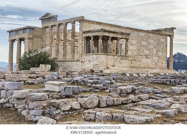 Erechtheion temple, Erechtheum (406 BC), Athens, Greece