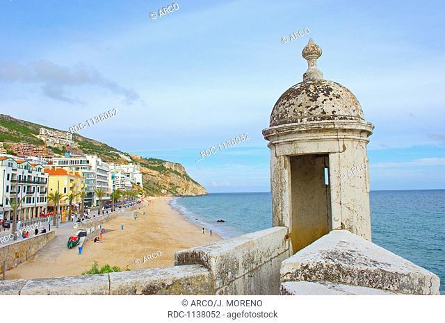 Santiago Fortress Forte de Santiago, Sesimbra, Setubal district, Atlantic Ocean, Lisbon coast, Portugal, Europe