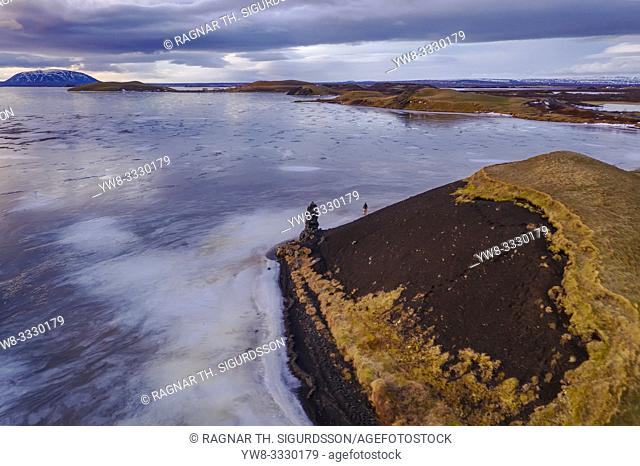 Winter, Lake Myvatn, Iceland