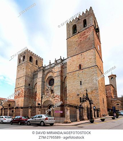 Santa María la Mayor Cathedral, Sigüenza, Guadalajara province, Castile La Mancha, Spain. Historical Heritage Site