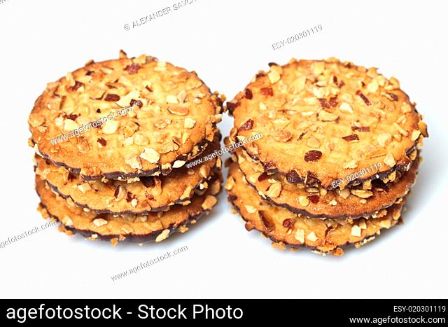 chocolate chip cookies with peanuts