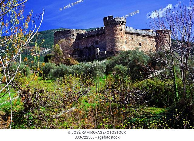 Duques de Alburquerque castle, Mombeltran. Avila province, Castilla-Leon, Spain