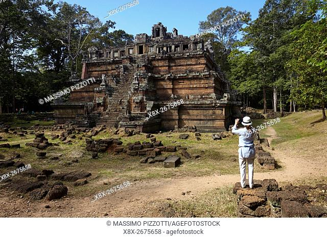 Phimeanakas temple in Angkor, Siem Reap, Cambodia