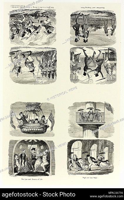 High and Low Water from George Cruikshank's Steel Etchings to The Comic Almanacks: 1835-1853 (top left) - 1842, printed c