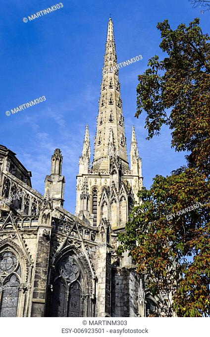St Andre cathedral day view, Bordeaux, France