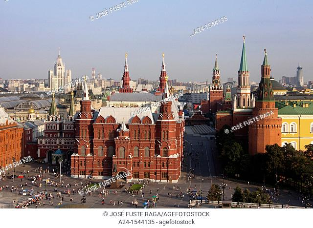 Rusia , Moscow City, History Museum Bldg , Red Square and the Kremlin
